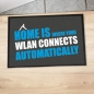 "Preview: Fußmatte ""Home is where your WLAN connects automatically"""