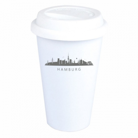 Coffee-to-go-Becher Skyline Hamburg