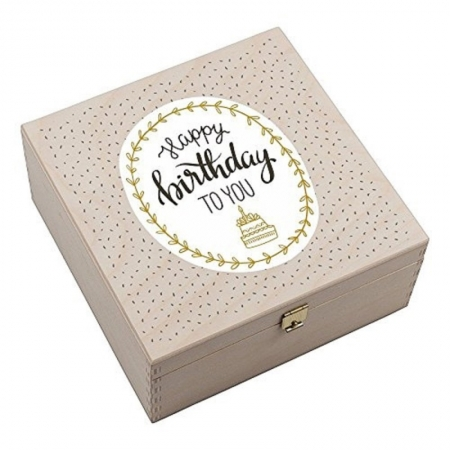 "Hufeisen-Box ""Happy Birthday to you"""