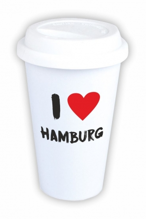 "Coffee-to-go-Becher ""I love Hamburg"""