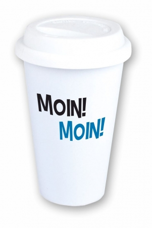Coffee-to-go-Becher Moin! Moin!